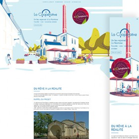 visuels du site web du Grand Bain